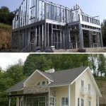 Story-houses with steel structure